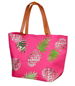 Pineapple Canvas Beach Bag