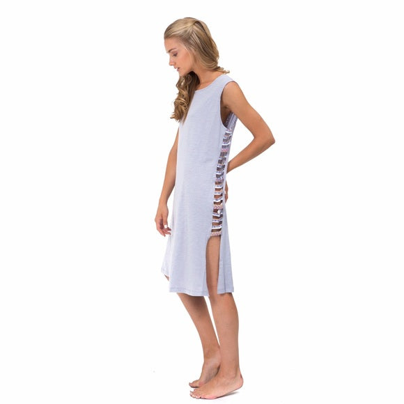 Pitusa Braided Inca Dress Grey