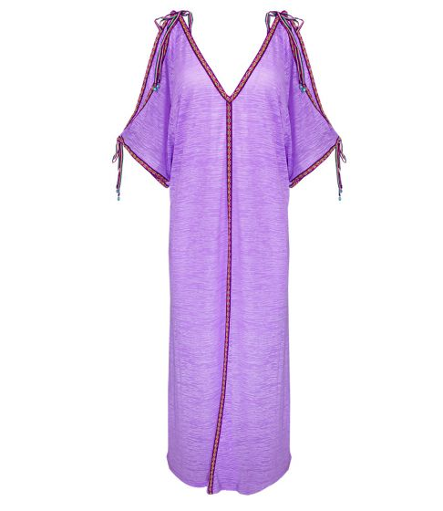Pitusa Inca Ottoman Dress Lavender
