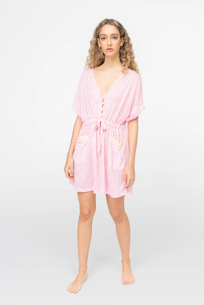 Pocket Mini Dress Light Pink