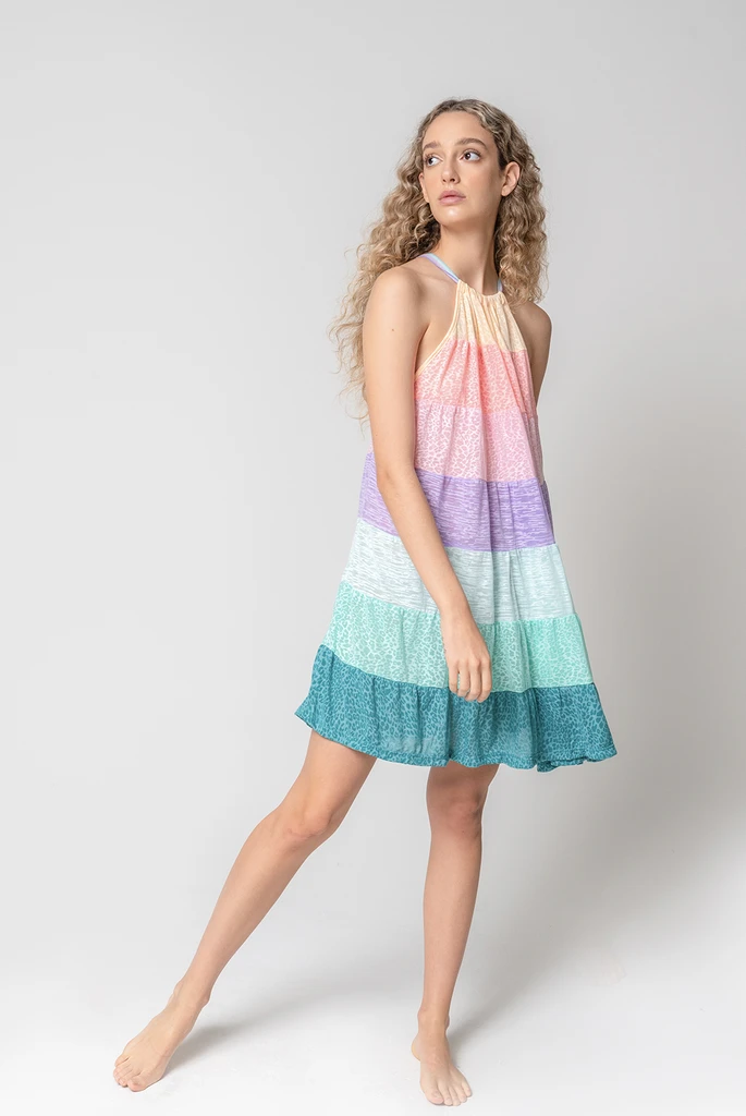 Popsicle Halter Mini Dress Patel Rainbow