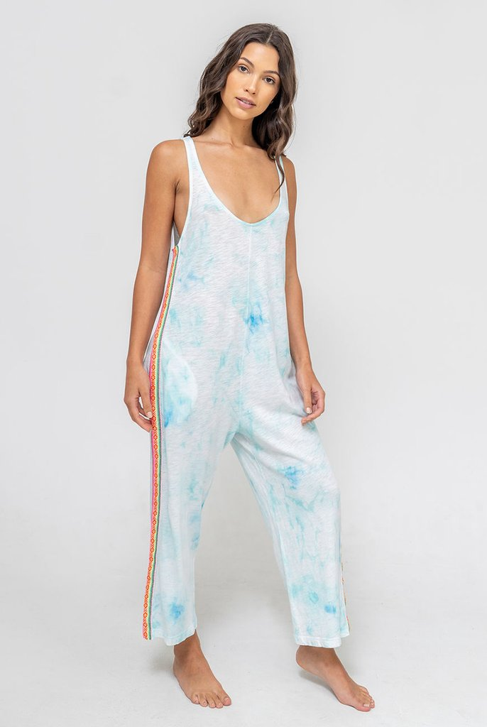 Tie Dye Jumpsuit Light Blue