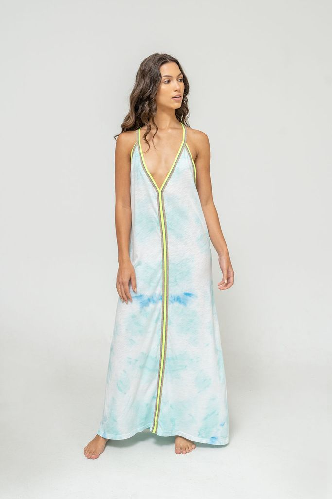 Tie Dye Sundress Light Blue