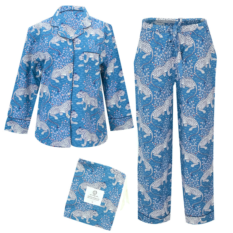 Bagheera Long Sleep Set Indigo