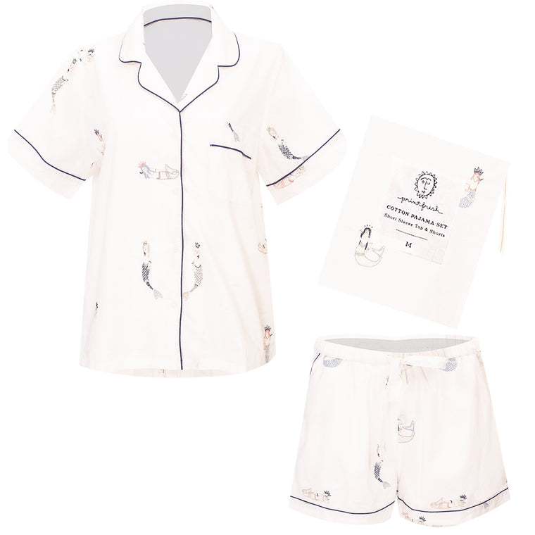 Daughters of Triton Short Sleep Set Cloud
