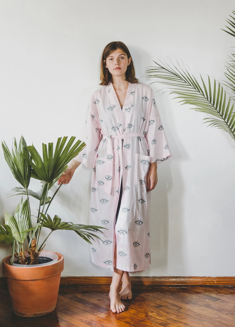 Eyes of the World Robe Blush