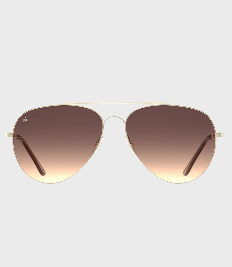 Unisex Sunglasses The Cali Gold/Brown Gradient