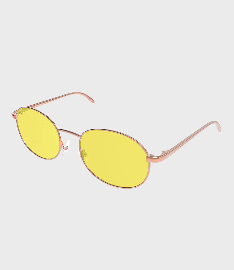 Womens Sunglasses The Candy Rose Gold/Yellow