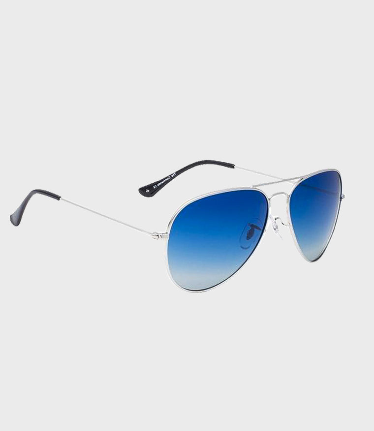 Unisex Sunglasses The Commando Silver Dark Navy