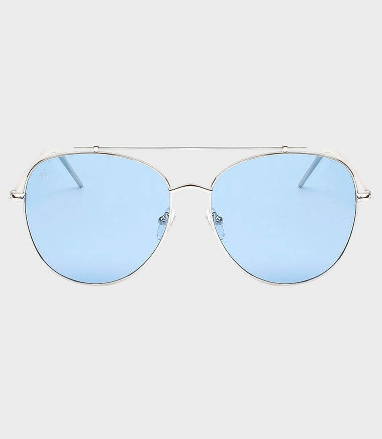 Unisex Sunglasses The Einstein Silver/Light Blue