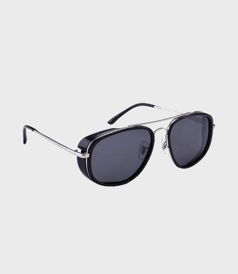 Mens Sunglasses The Explorer Black Silver/Grey