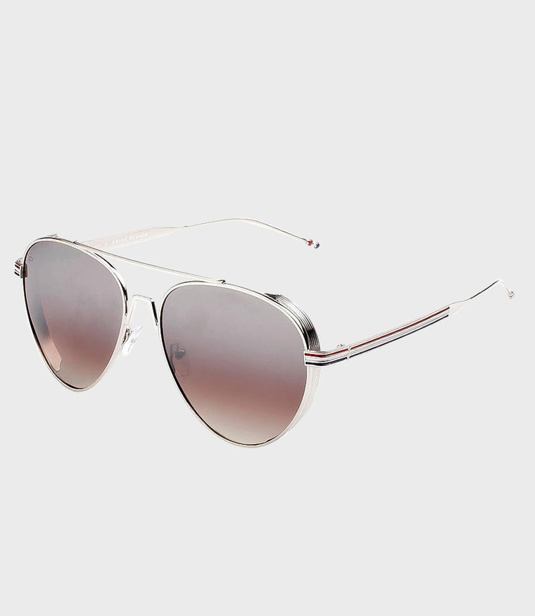 Unisex Sunglasses The G.O.A.T Silver/Silver Mirror