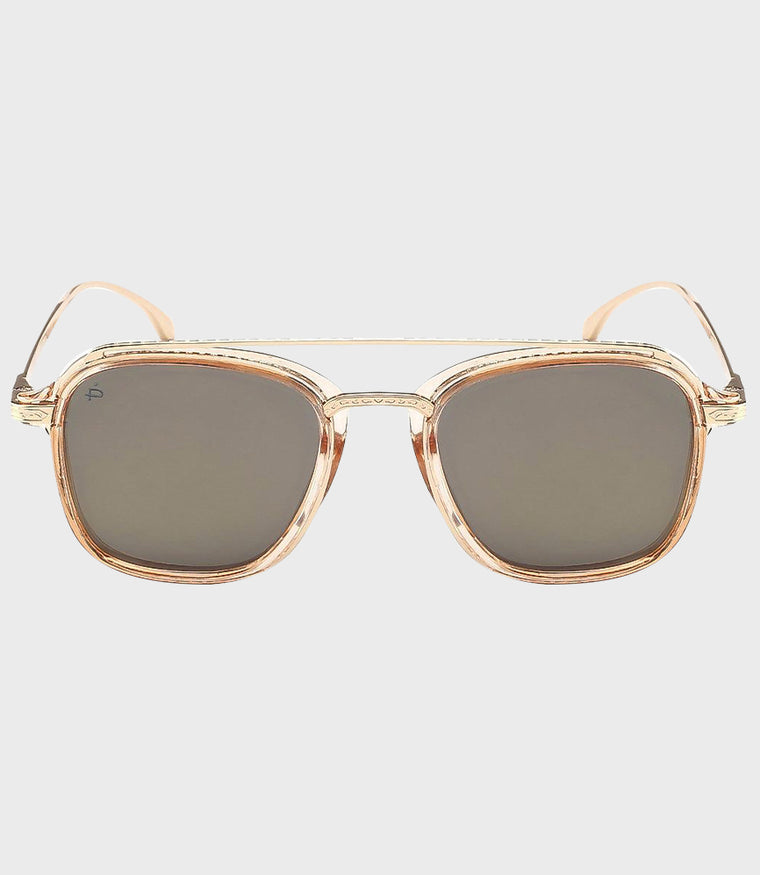 Unisex Sunglasses The Jetsetter Brown/Gold Mirror