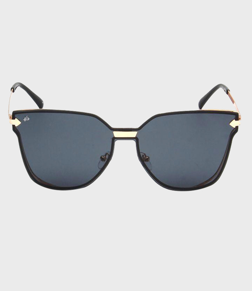 Womens Sunglasses The Madam Gold/Grey Gradient
