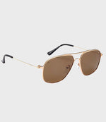 Unisex Sunglasses The Marquise Gold/Brown