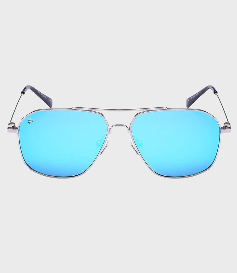 Unisex Sunglasses The Marquise Silver/Blue