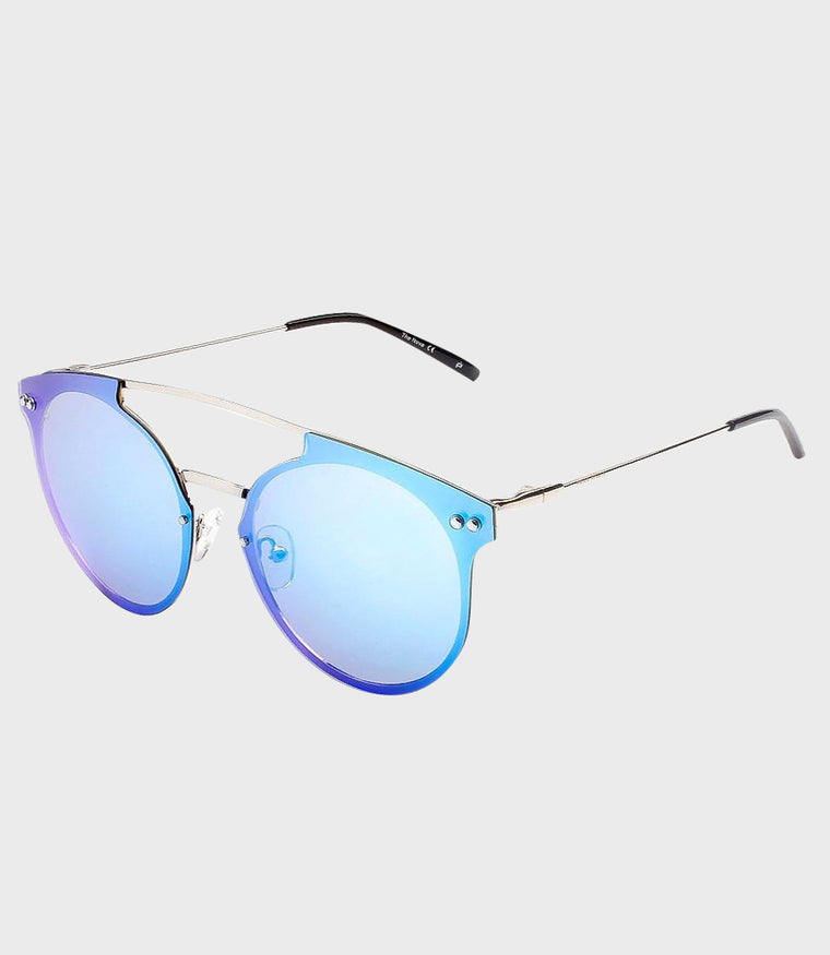 Womens Sunglasses The Nova Silver/Blue Mirror