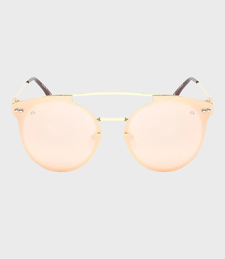 Womens Sunglasses The Nova Gold/Pink Gold Mirror