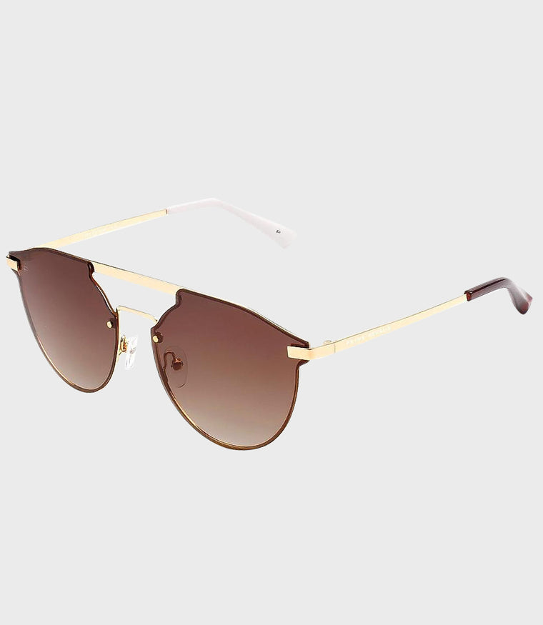 Unisex Sunglasses The Parisian Gold/Brown