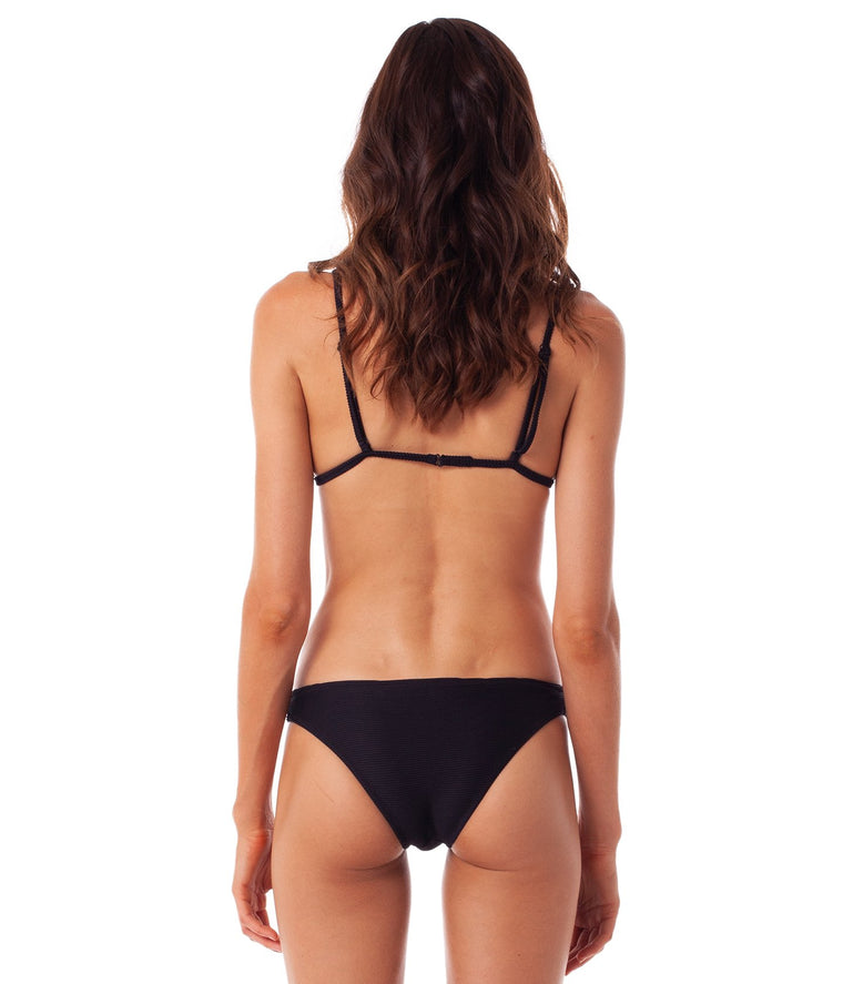 Palm Springs Cheeky Bikini Bottom Black