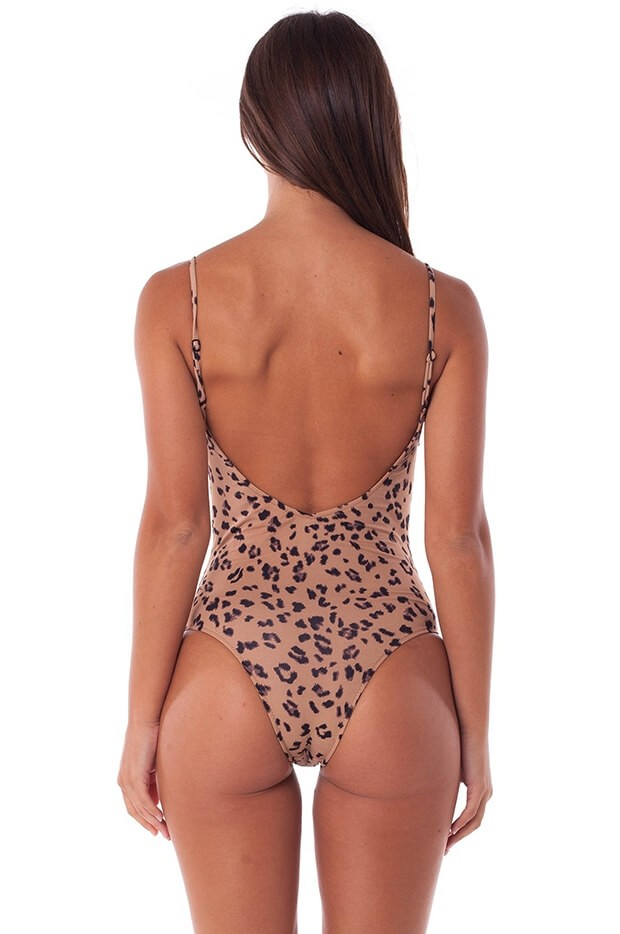 Madagascar V-Neck One Piece Mocha