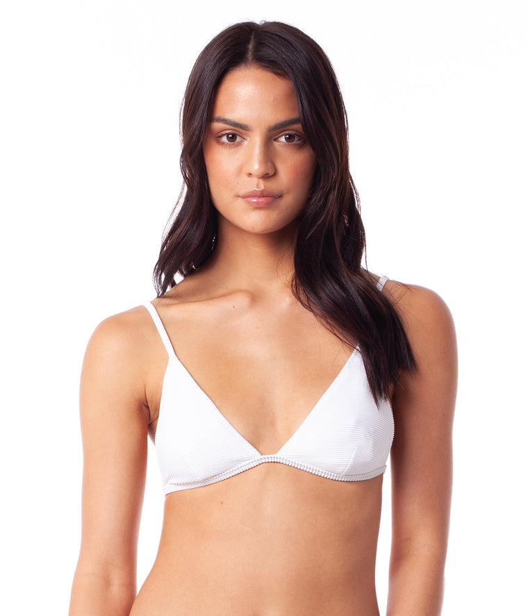 Palm Springs Bralette Bikini Top White