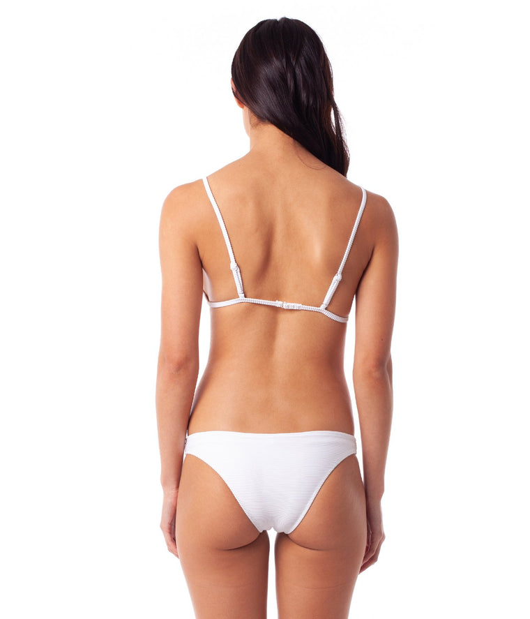 Palm Springs Cheeky Bikini Bottom White