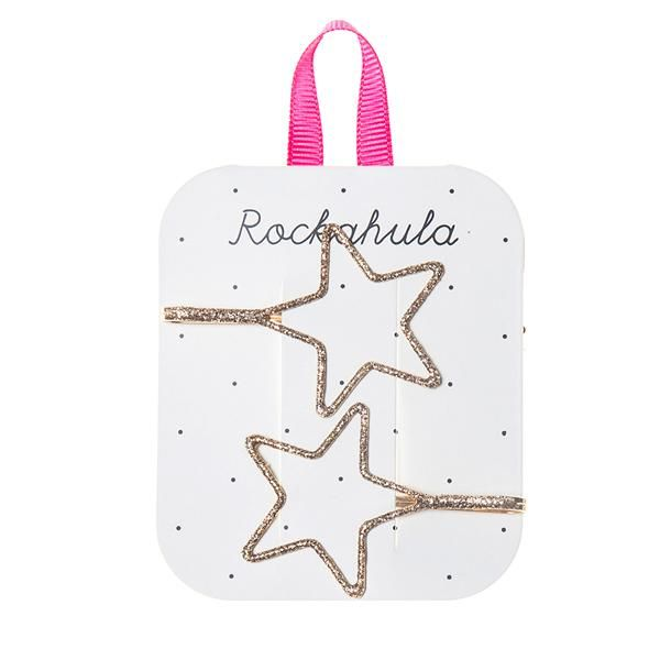 Rockahula Satrry Cut Out Glitter Slides Gold