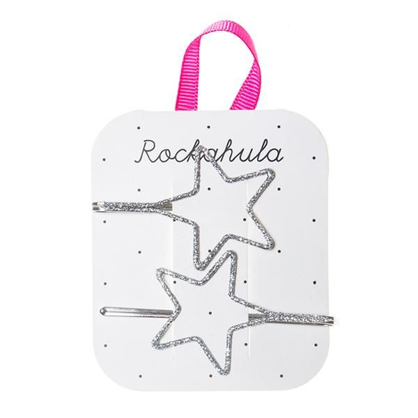 Rockahula Satrry Cut Out Glitter Slides Silver