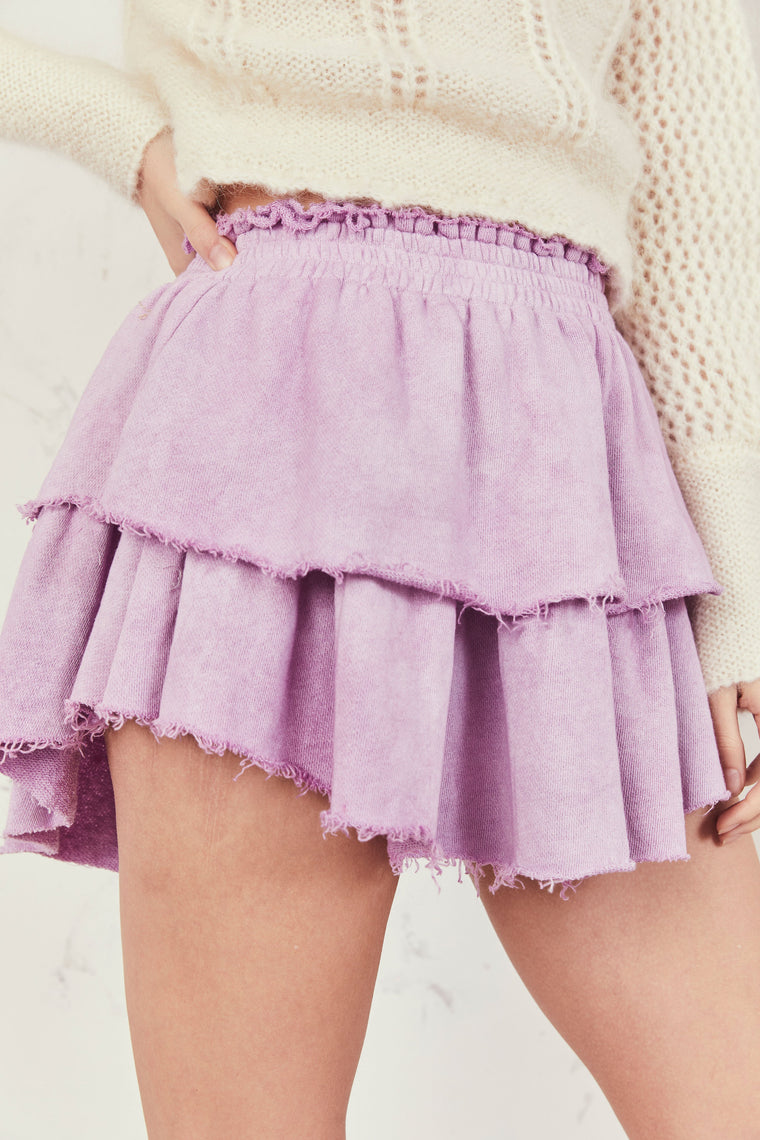 Ruffle Mini Skirt Lotus