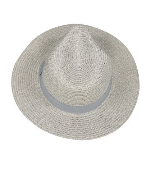 Panama Hat Grey with Grey Band