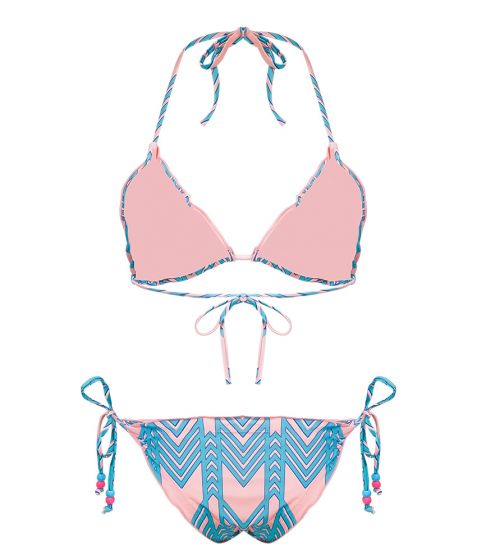 Lettuce Trim Self Tie Bikini