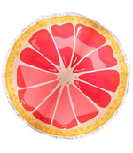 Grapefruit Round Towel
