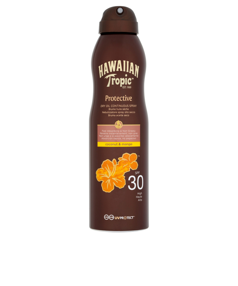 Tanning Dry Oil Continuous Spray Coconout & Mango SPF30 180ml