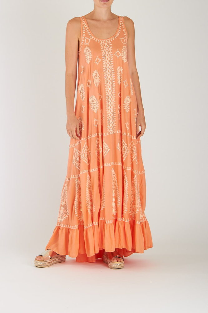 Delila Maxi Dress Cantaloupe Pearl