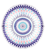 Santorini Sunset Round Towel