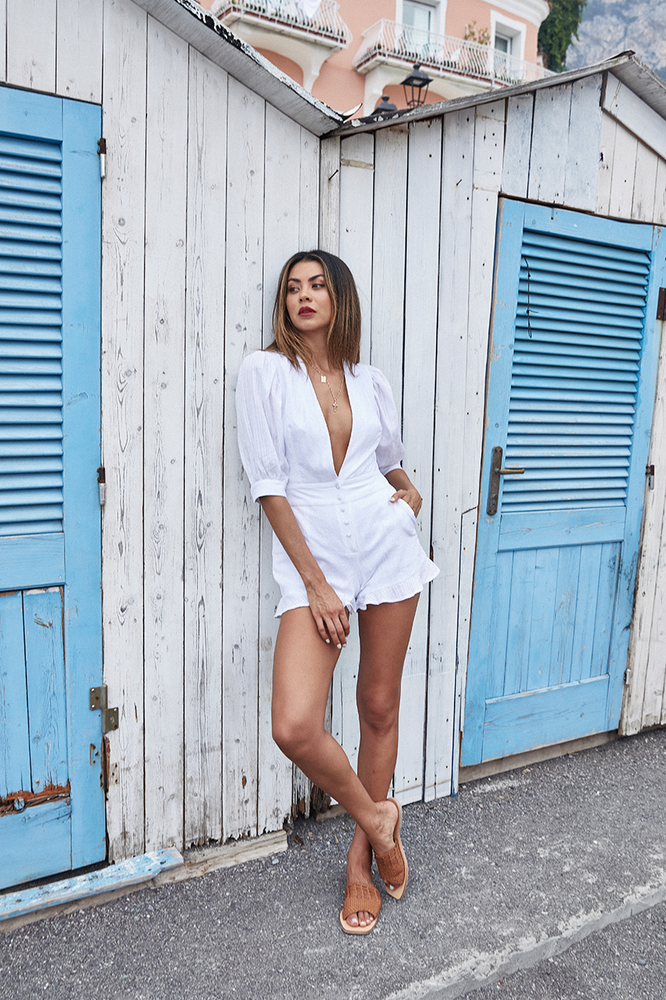 Madison Playsuit White