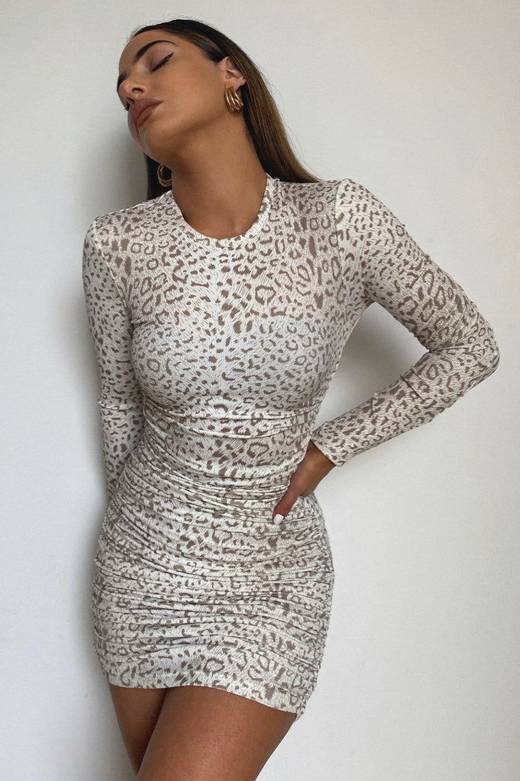 Panthera Dress Snow Leopard