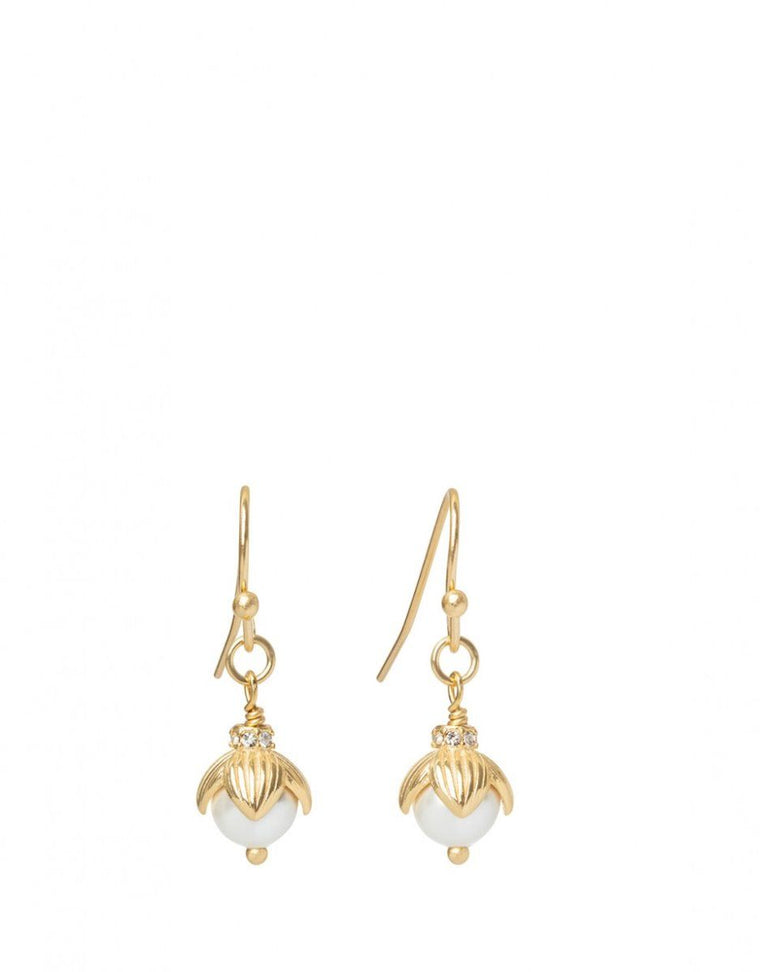 Spartina Bead Drop Earrings Pearl