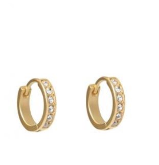 Spartina Huggie Hoop Earrings Crystal