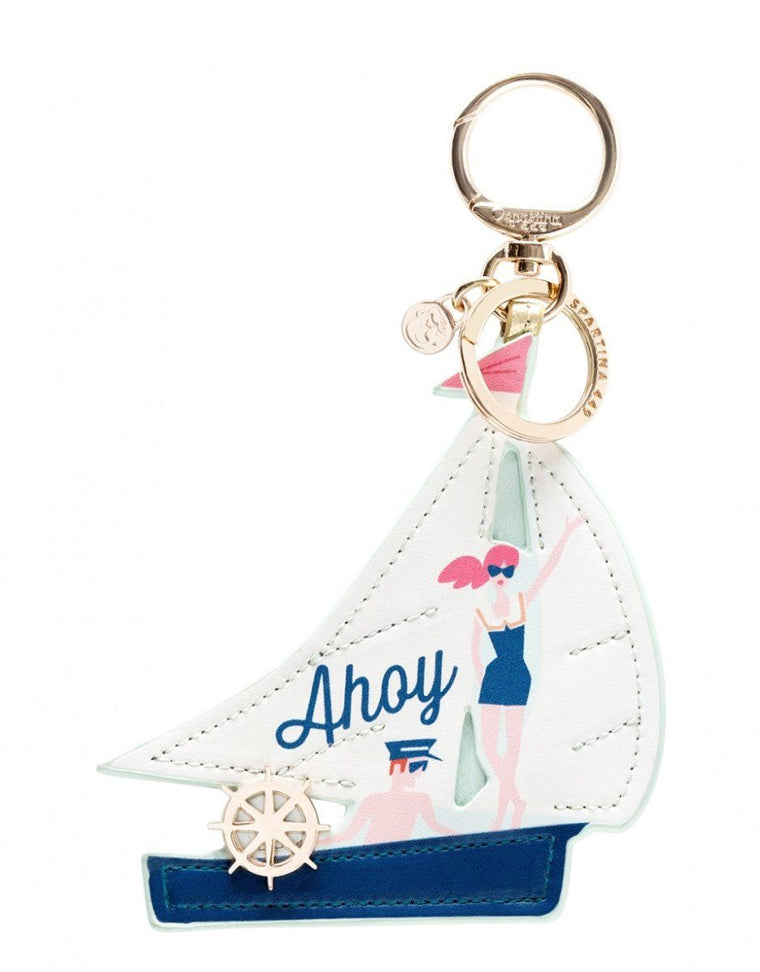 Spartina Bag Charm Ahoy Sailboat