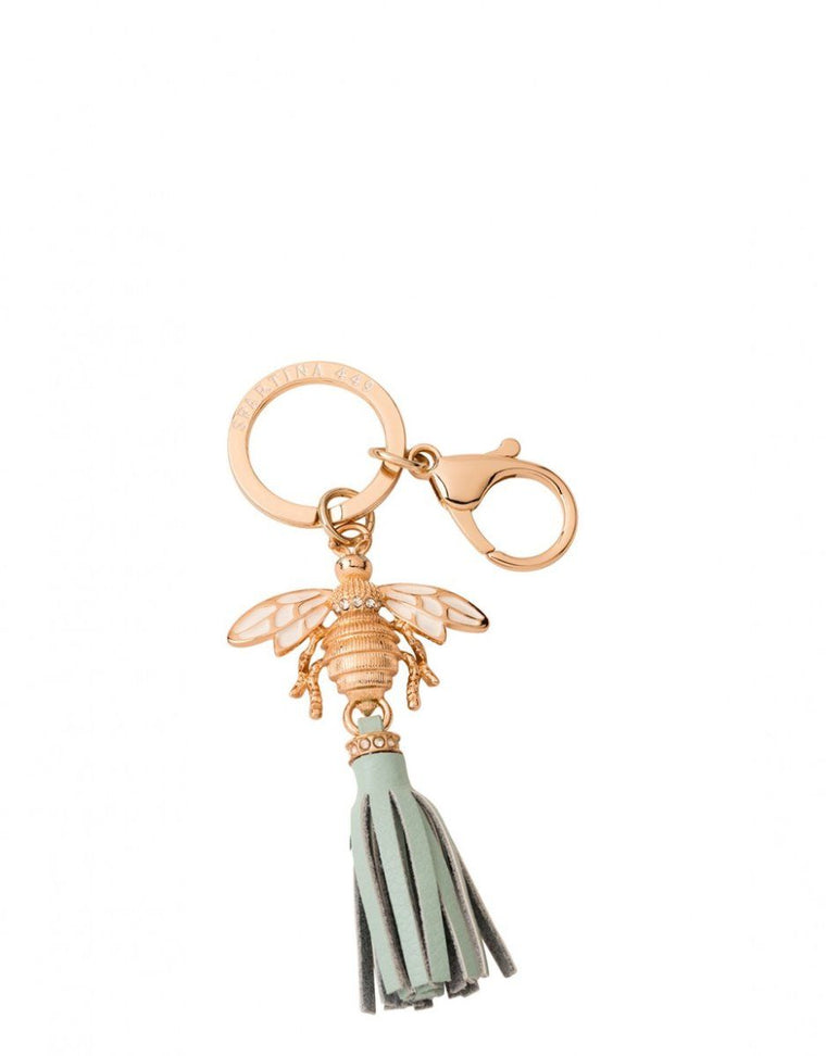 Spartina Bee Keychain - Sea Salt