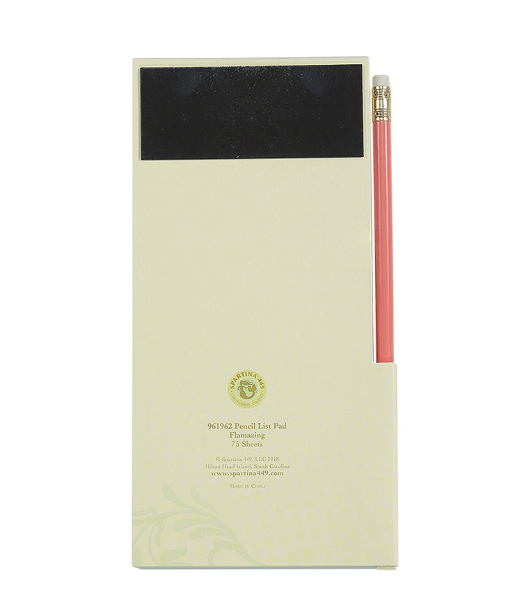 Spartina Pencil List Pad Flamazing 4x8