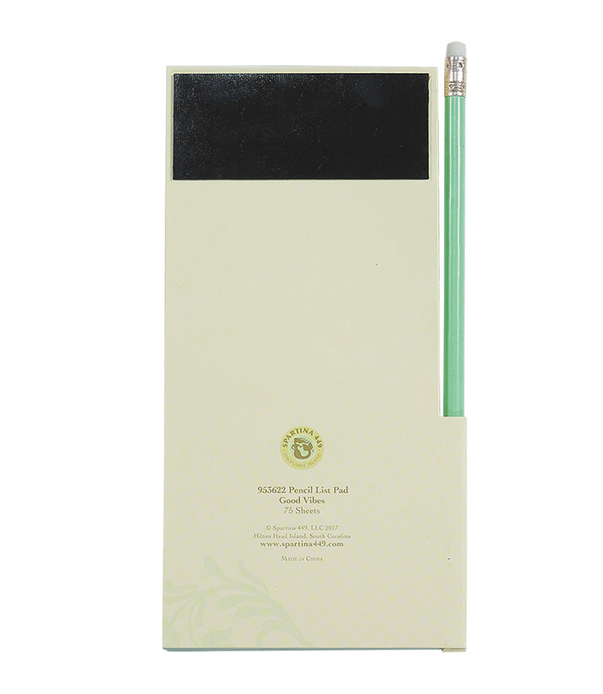 Spartina Pencil Note Pad Good Vibes