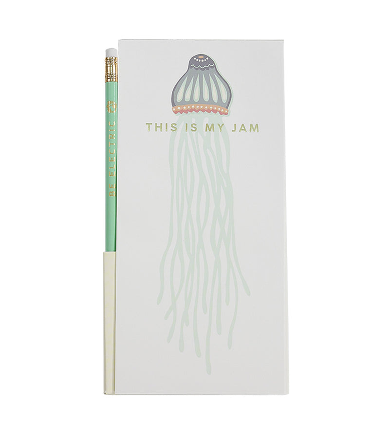 Spartina Pencil Note Pad Jellyfish