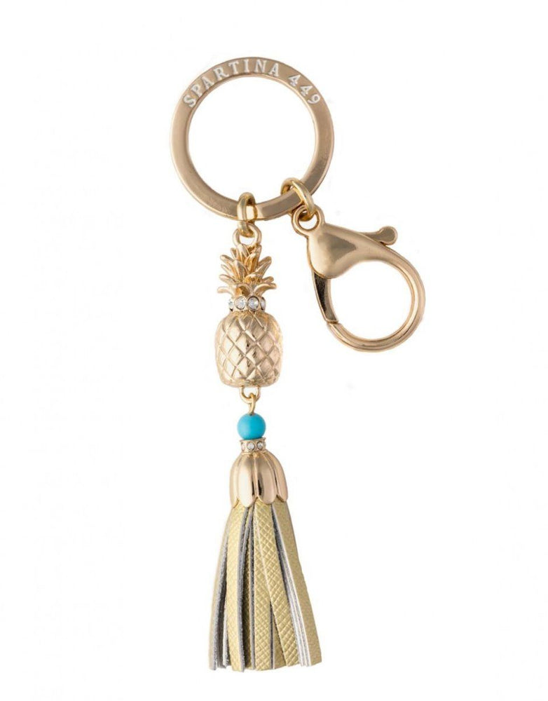 Spartina Pineapple Keychain - Gold