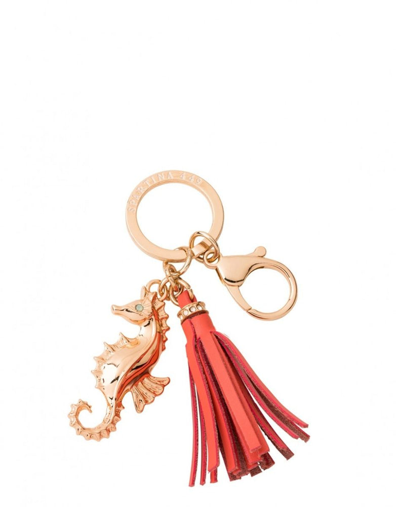 Spartina Seahorse Keychain Coral
