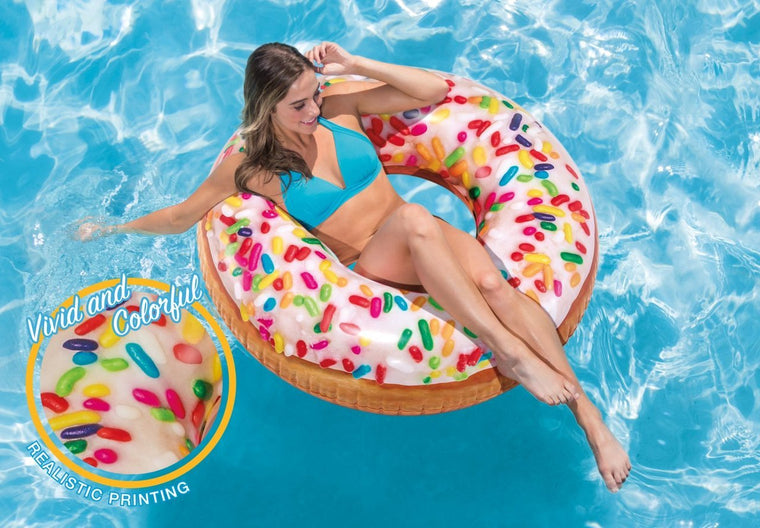 Sprinkle Donut Ring Pool Float