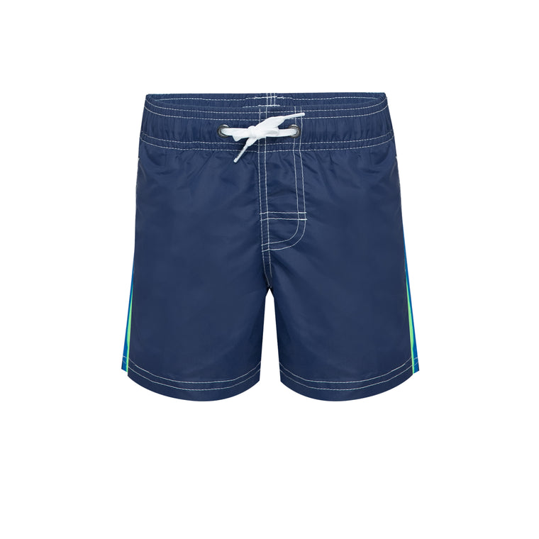 Boys Elastic Waist Swim Trunks Navy