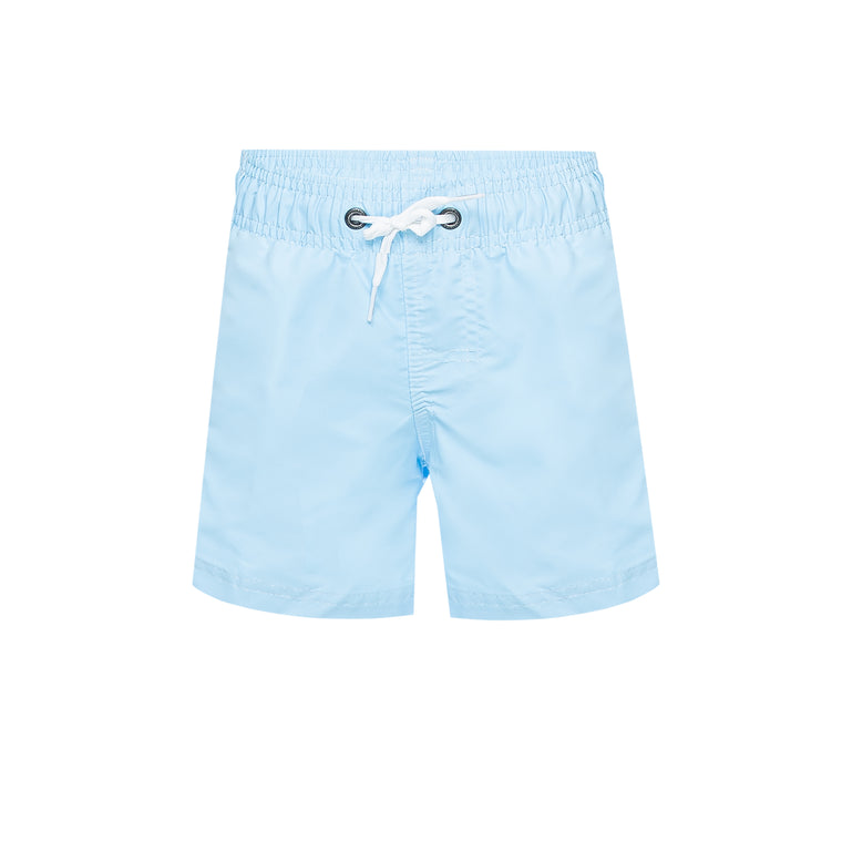 Boys Elastic Waist Swim Trunks Vintage Glacier